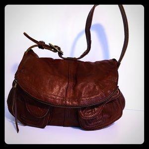 Lucky Brand Lamb Leather  Stash Hobo Flap Bag